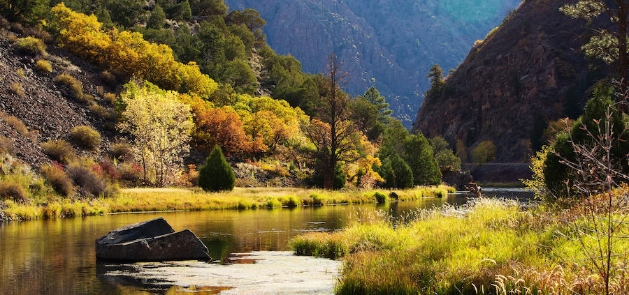 Valley in Black Canyon National Park in Montrose, CO